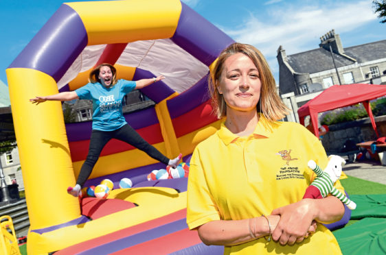 The big bounce event raises money for Great Ormond Street and the Archie Foundation