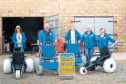 Volunteers at the Balmedie Beach Wheelchairs project