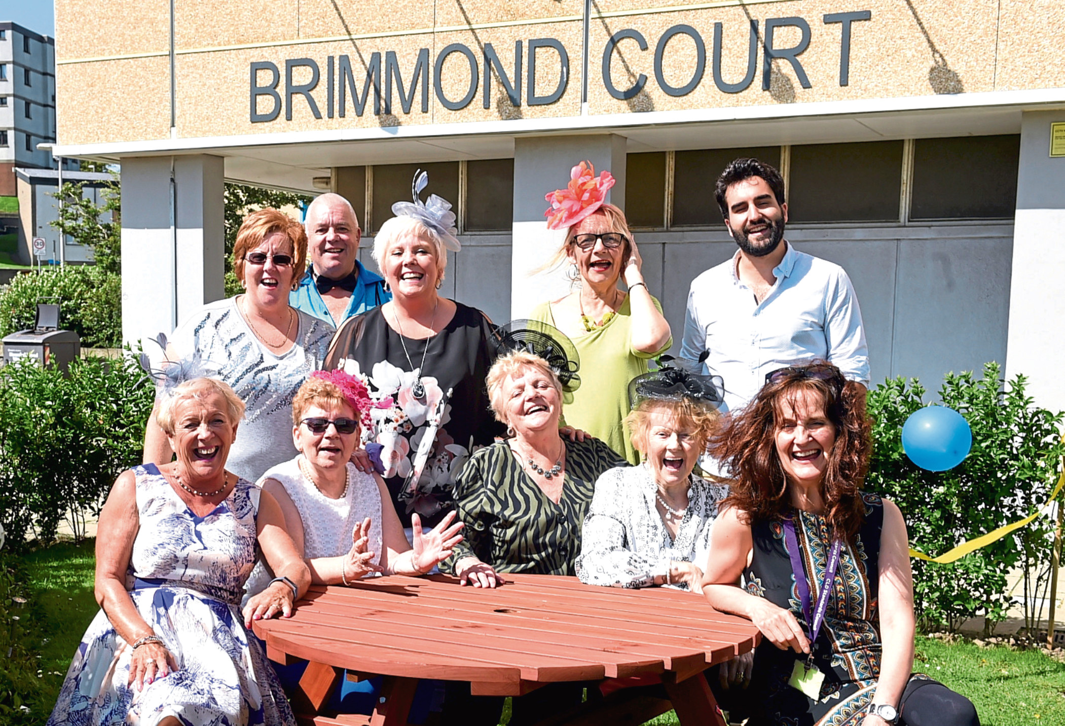Members of Brimmond Court Tenants' Association and sponsors of the project