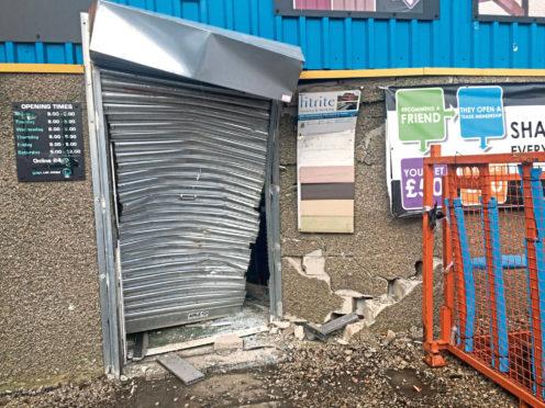 The rammed door at GAP at Murcar Commercial Park