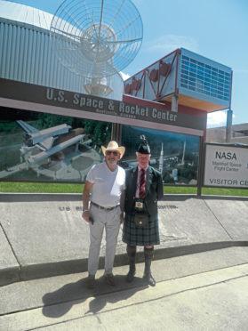 Phil Mills-Bishop with Richard Holman-Baird in Huntsville