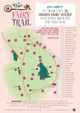 The Dyce Fairy Trail map. Image by Claire Livingston