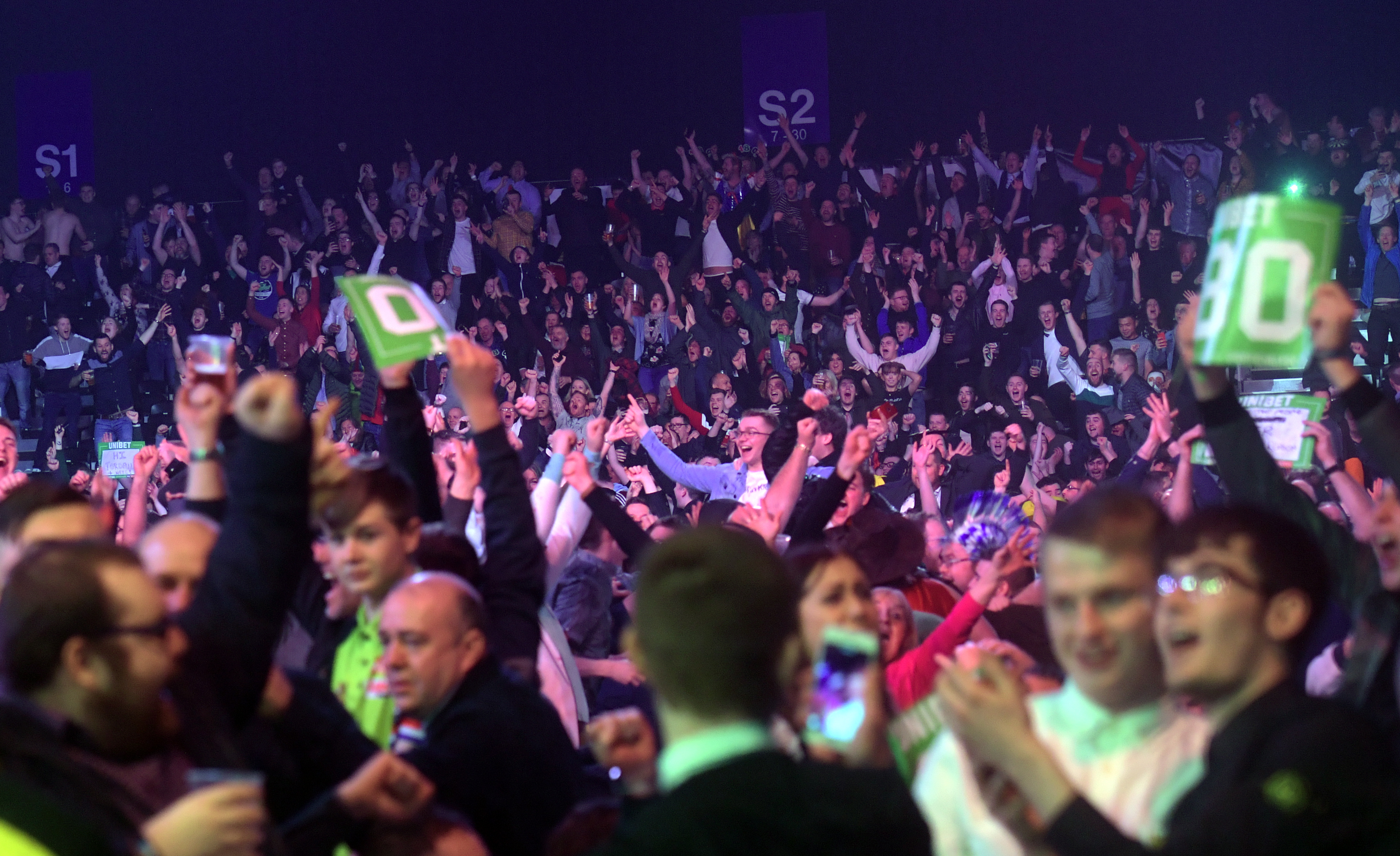 Unibet Premier League Darts at the AECC earlier this year