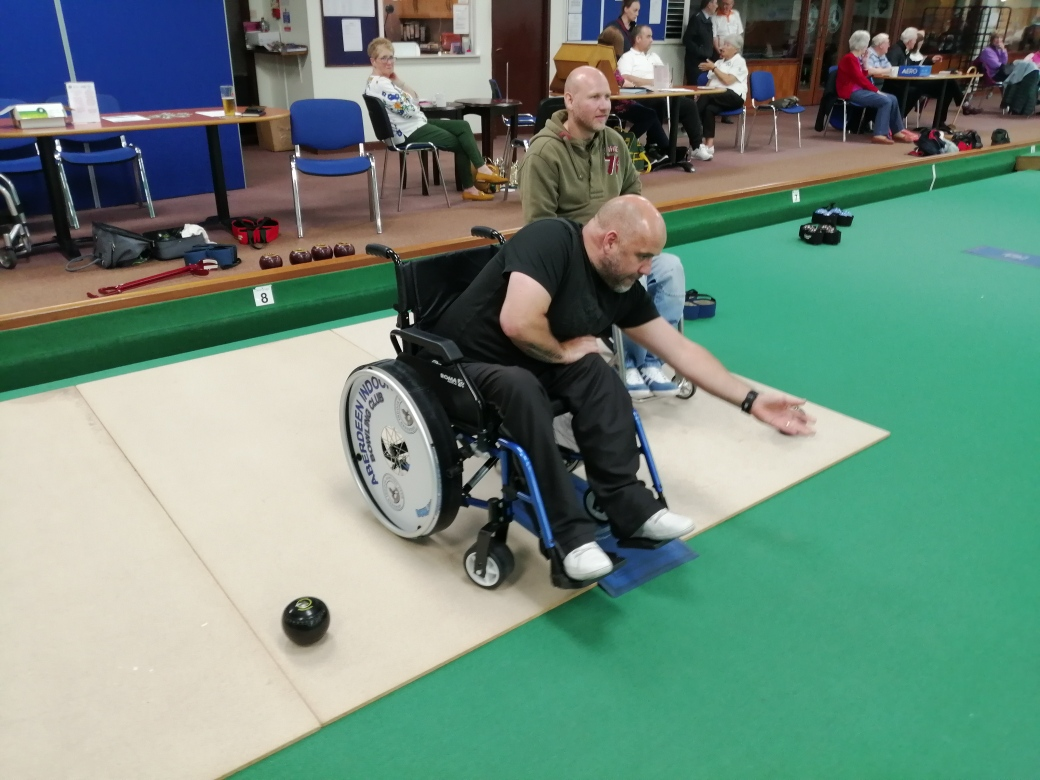 Inclusive bowling at Aberdeen Indoor Bowling Club.