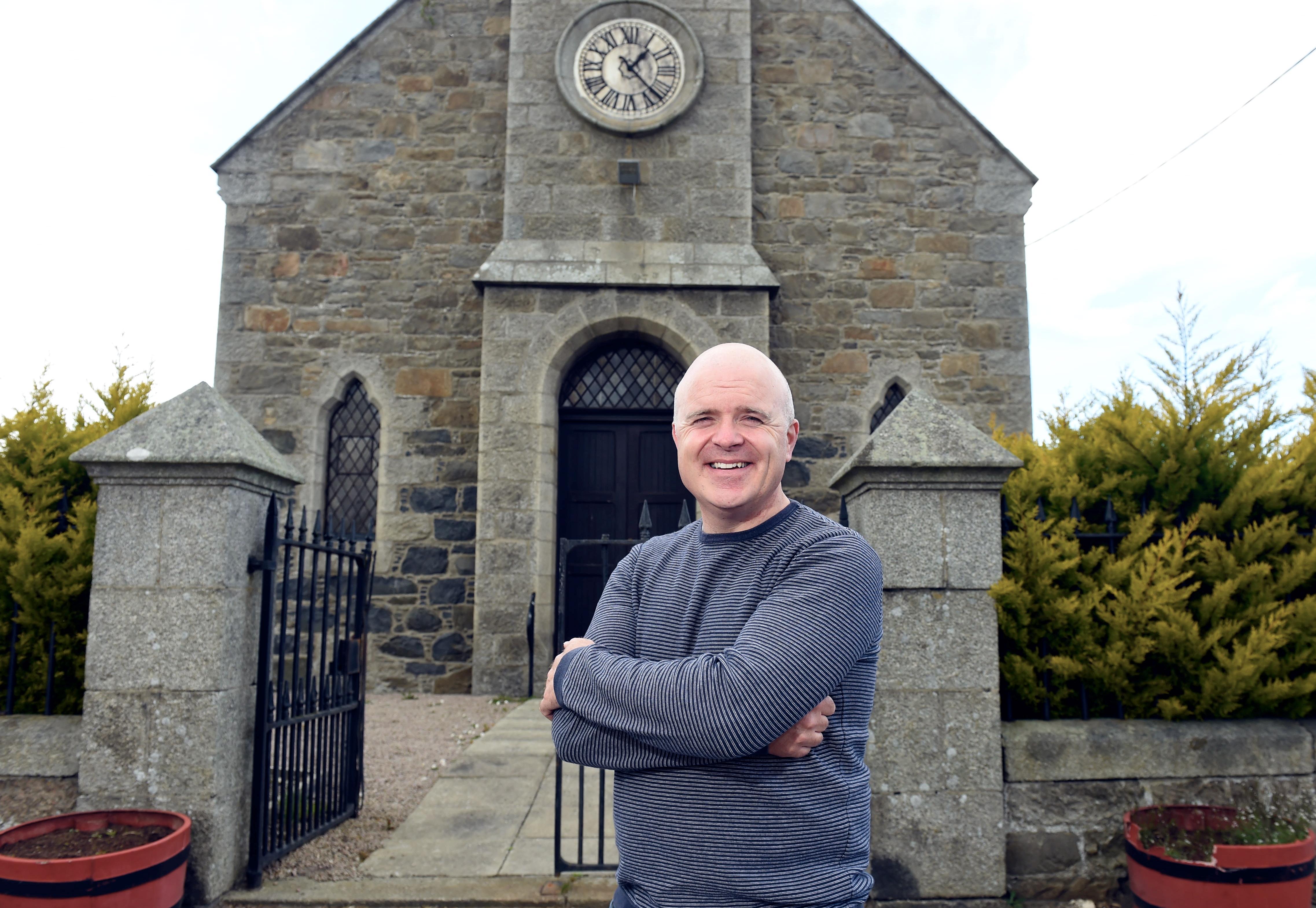Stuart Watt at the church