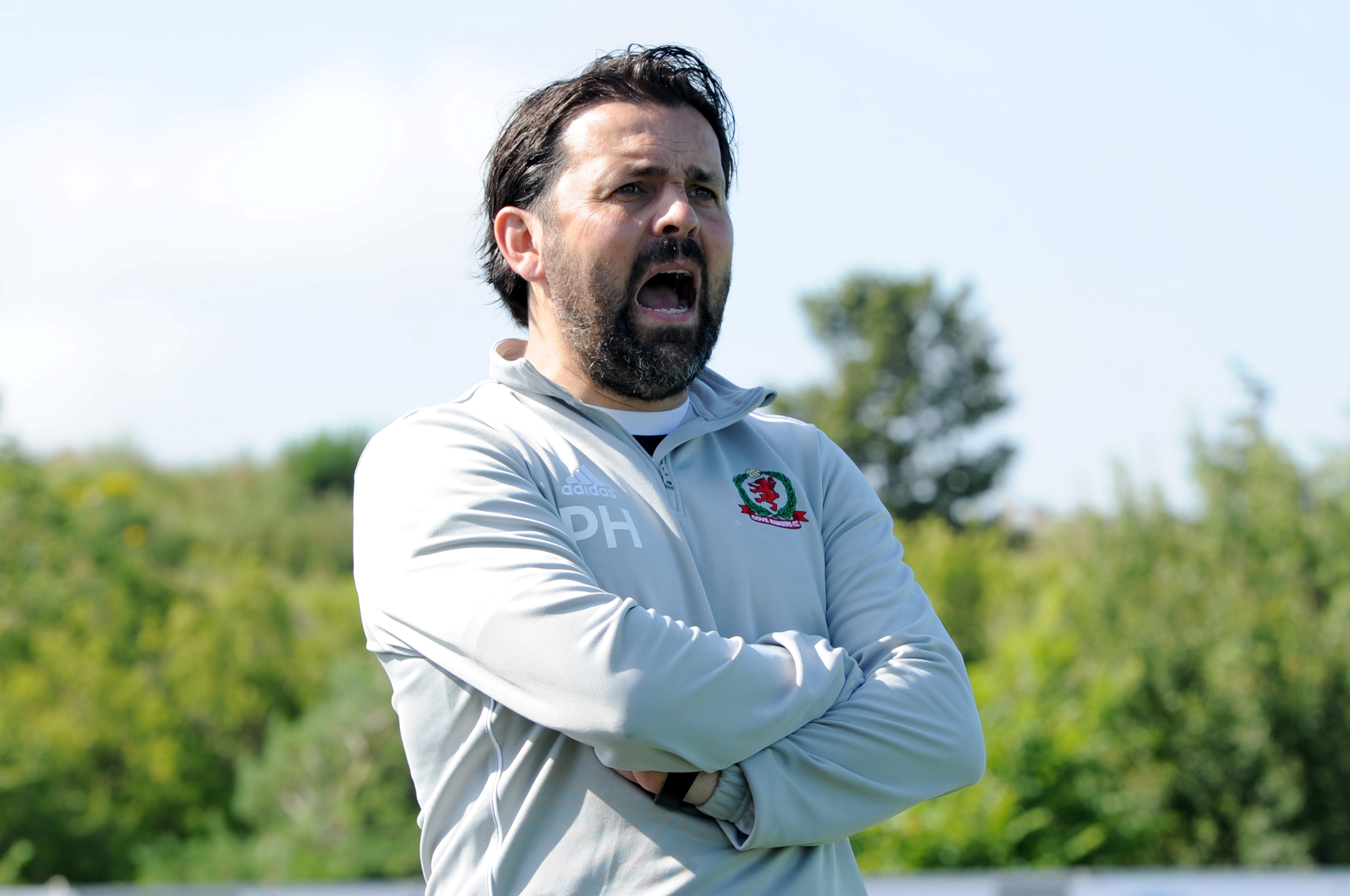 Cove Rangers manager Paul Hartley.