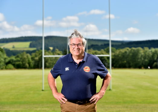 Deeside Rugby Club president Ian Finlayson