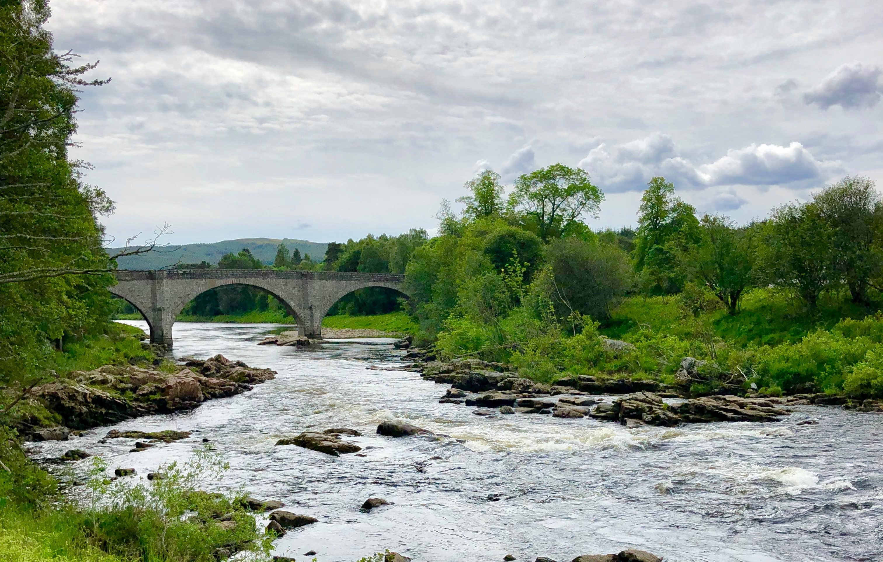 The boys were swimming in the River Dee at Potarch, near Banchory