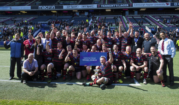 Aberdeenshire are crowned National Bowl champions.