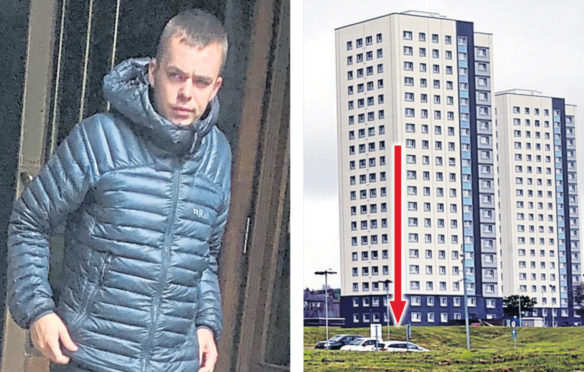 Scott Cameron launched a cooking pot out of his 11th floor window