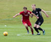 Summer signing Jon Gallagher playing for Aberdeen against Connah's Quay Nomads in Cork