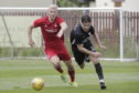 Aberdeen's Curtis Main in actions against Connah's Quay Nomads