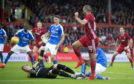 Niall McGinn nets Aberdeen's opener in the Europa League first qualifying round first leg against RoPS Rovaniemi