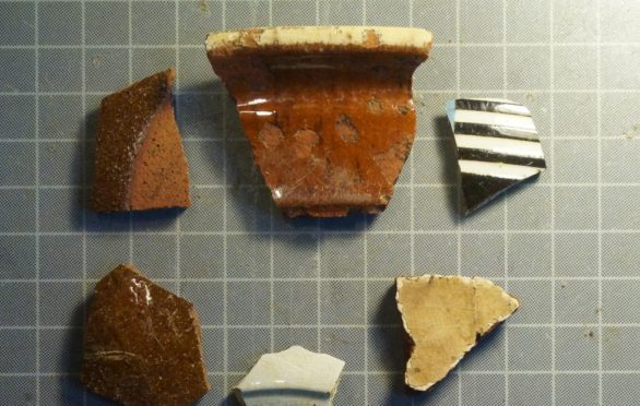 Some of the objects found during the dig