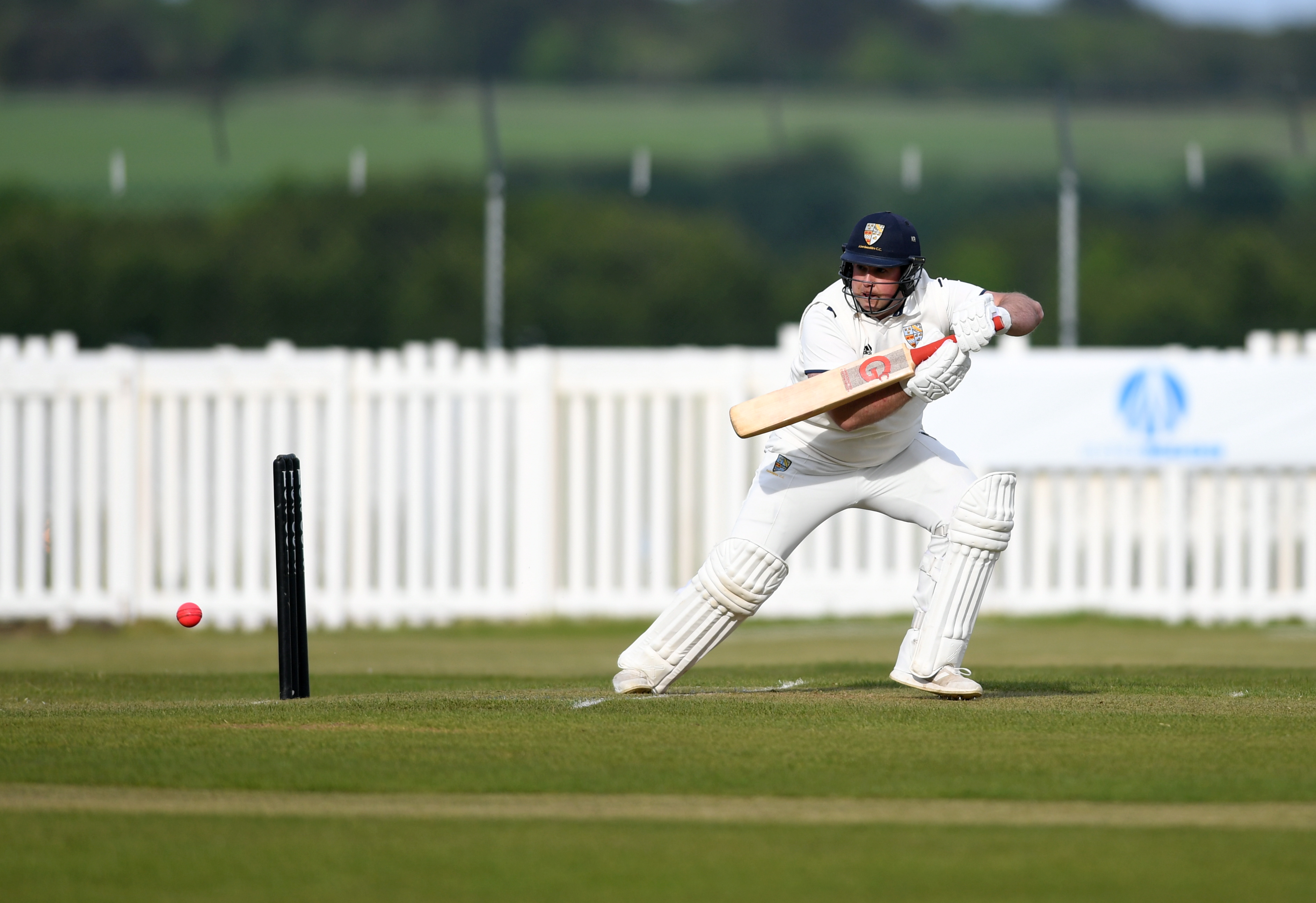 Aberdeenshire captain Kenny Reid at the crease