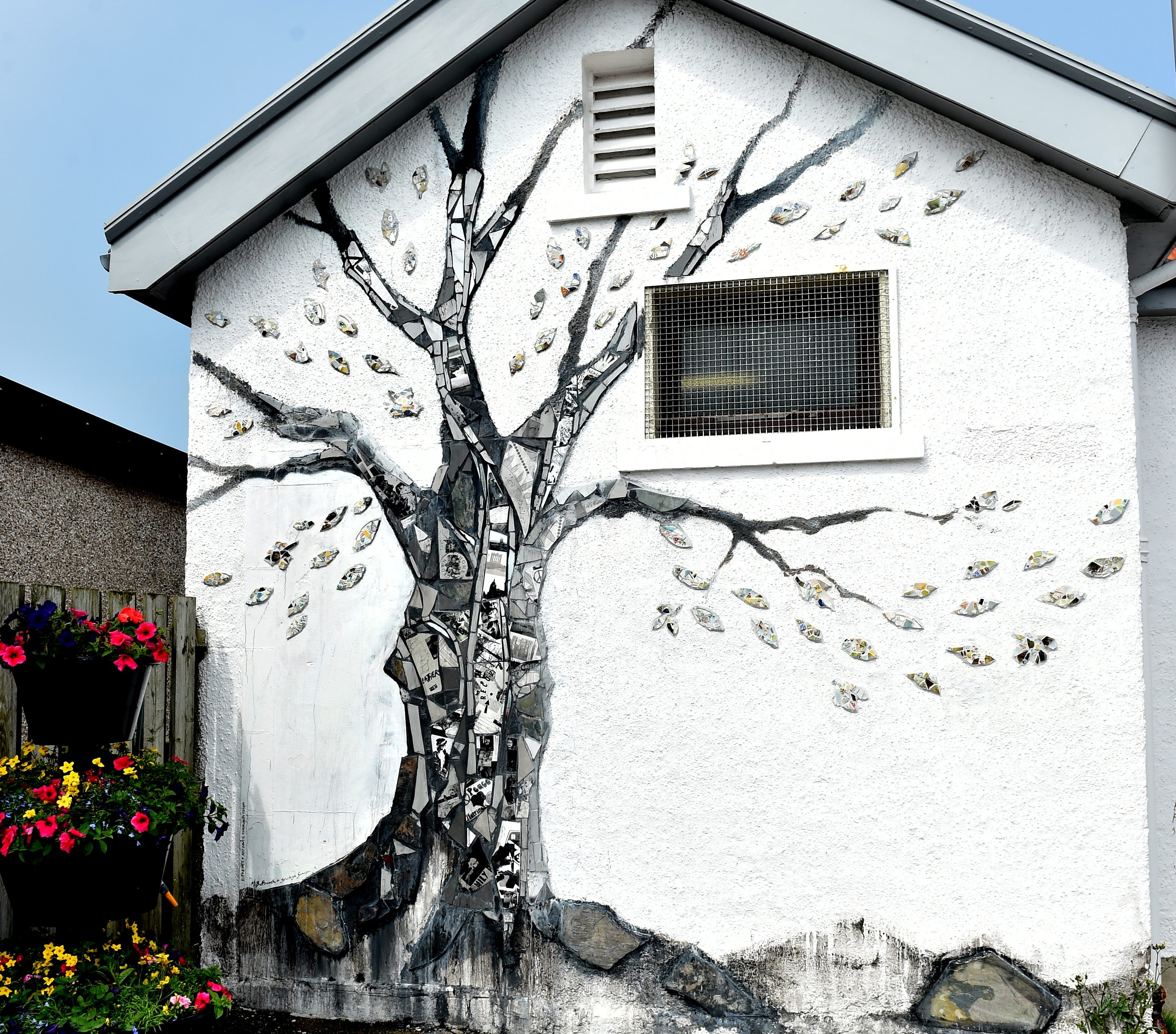 The mural in Stonehaven