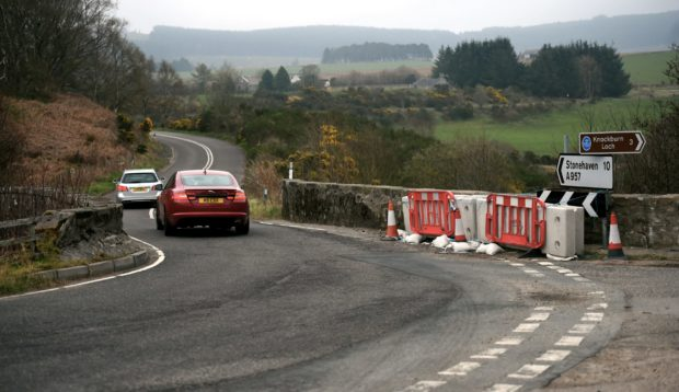 The A957 Stonehaven to Crathes Slug Road has reopened