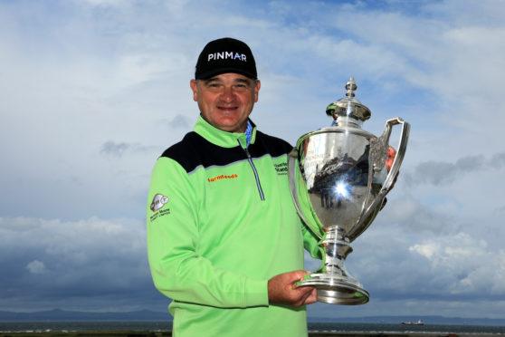 Paul Lawrie with his trophy.