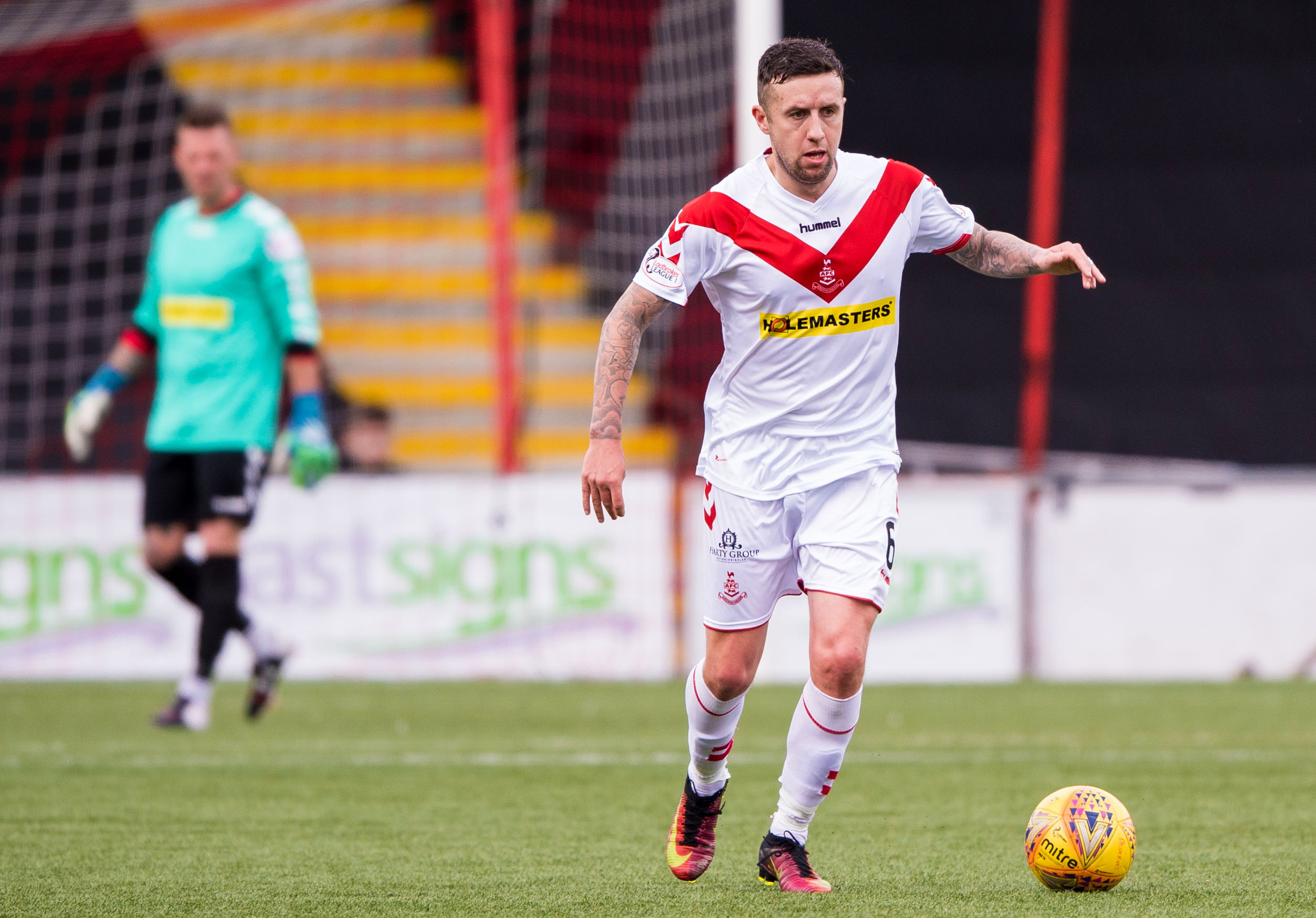 Ryan Conroy in action for Airdrieonians.