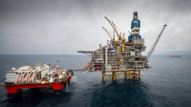 The Mariner field east of Shetland, one of the largest oilfields in the UK, has started producing. Picture by Abermedia / Michal Wachucik