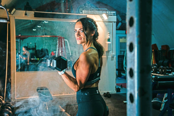 Personal trainer Stacey Cruickshank was robbed while she was giving an exercise class