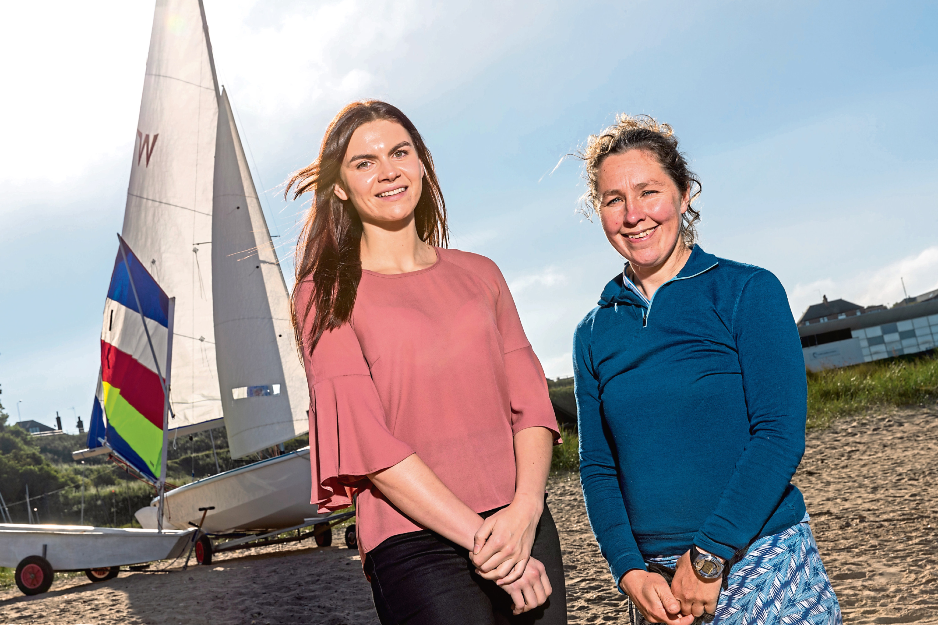 Kimberly Morrison of CALA Homes and Angie Fraser of Aberdeenshire Sailing Trust