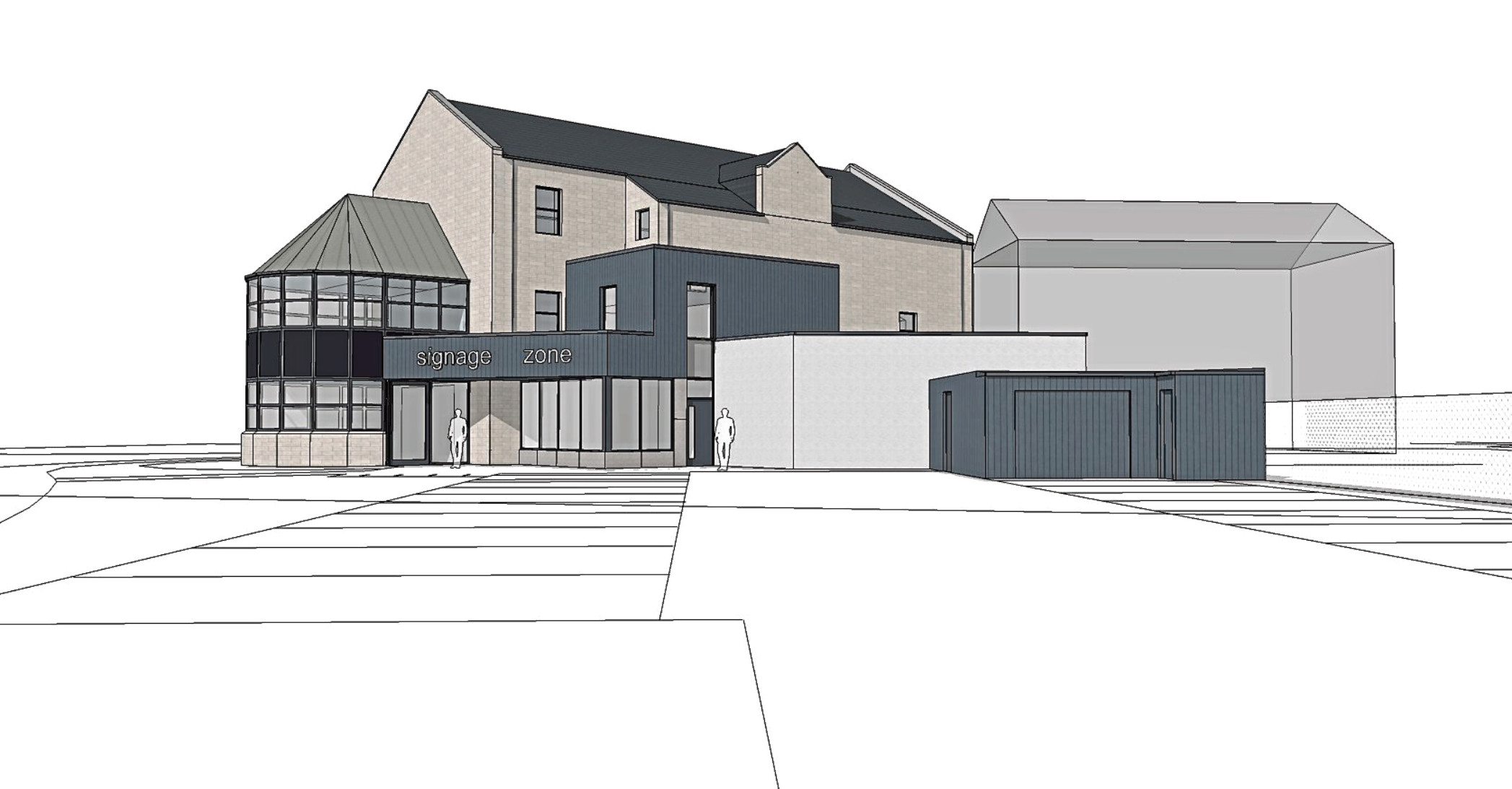 Caption: Artist impression of how the new commercial and residential unit at Mounthooly Way could look.