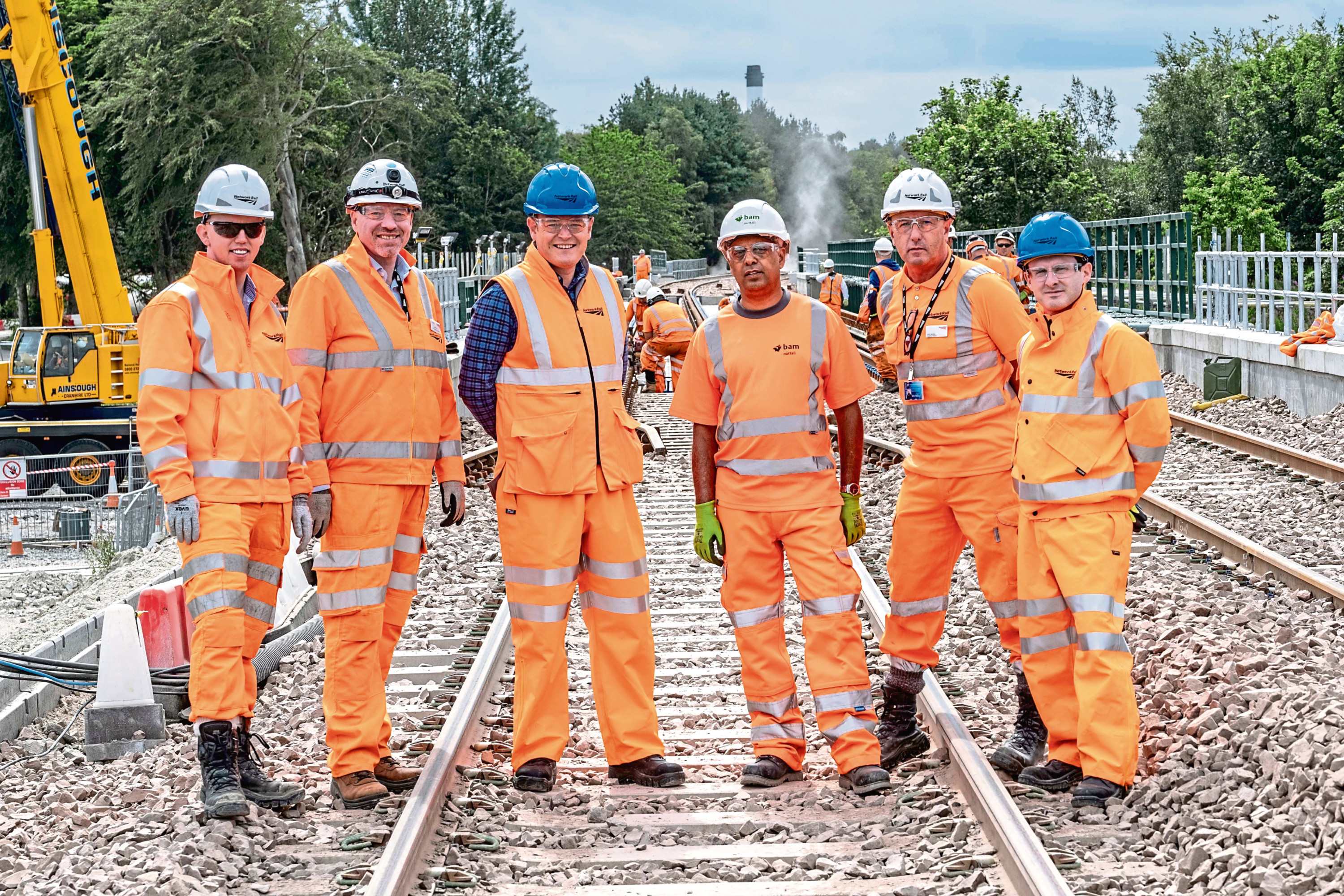 ScotRail managing director Alex Haynes visiting the north-east to see the work being done to dual the track from Aberdeen to Inverness