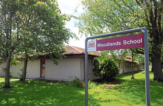 A building warrant has been submitted for the west link of Woodlands School to be demolished and the building refurbished to provide a nursery    Picture by Basia Wright          .