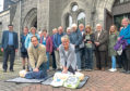 Session Clerk Cllr Martin Greig with the congregation.