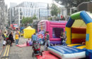 The Big Bounce event outside Bon Accord Centre, Schoolhill, Aberdeen