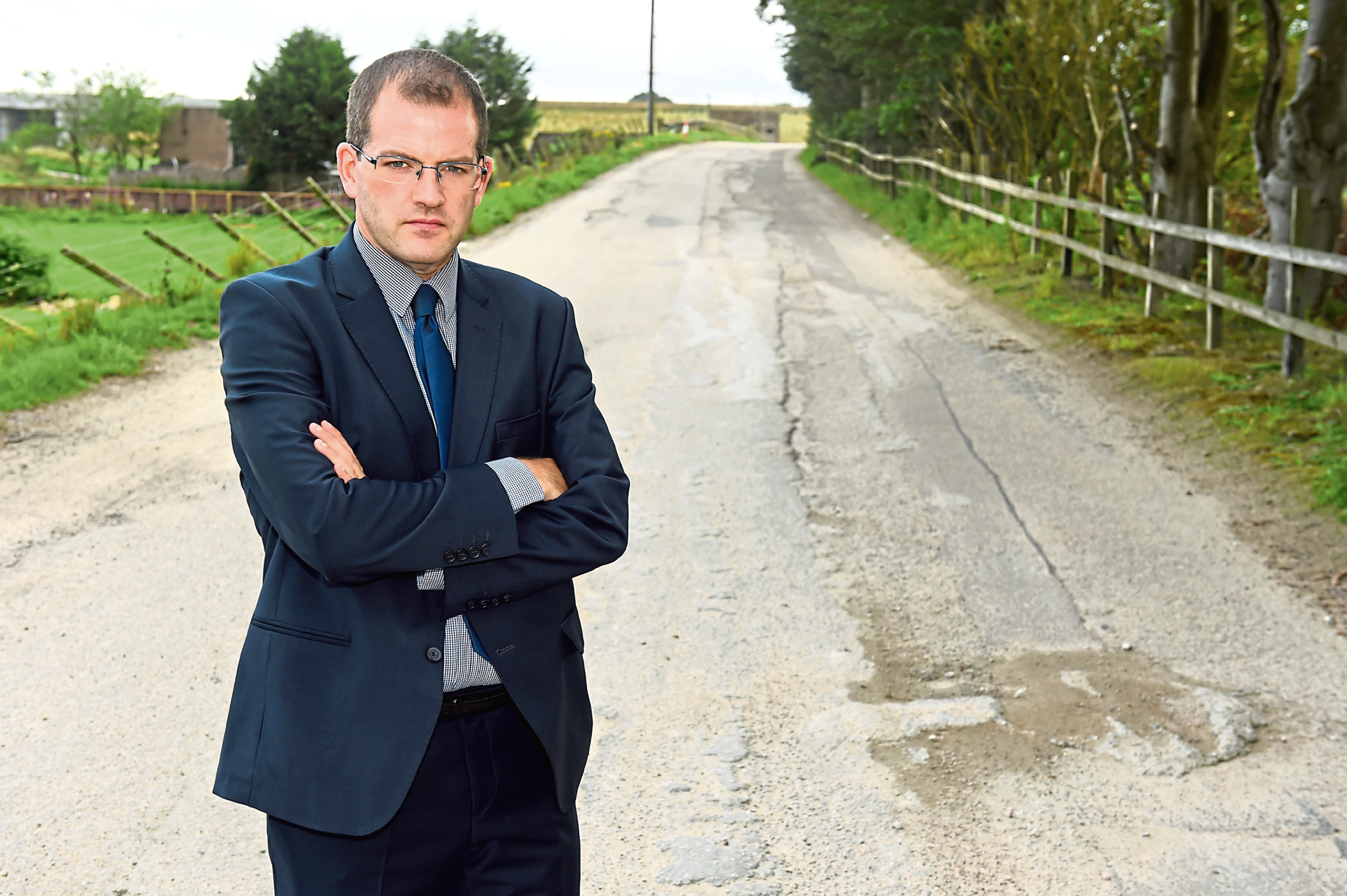Mark McDonald has been contacted by constituents regarding the poor state of the access road