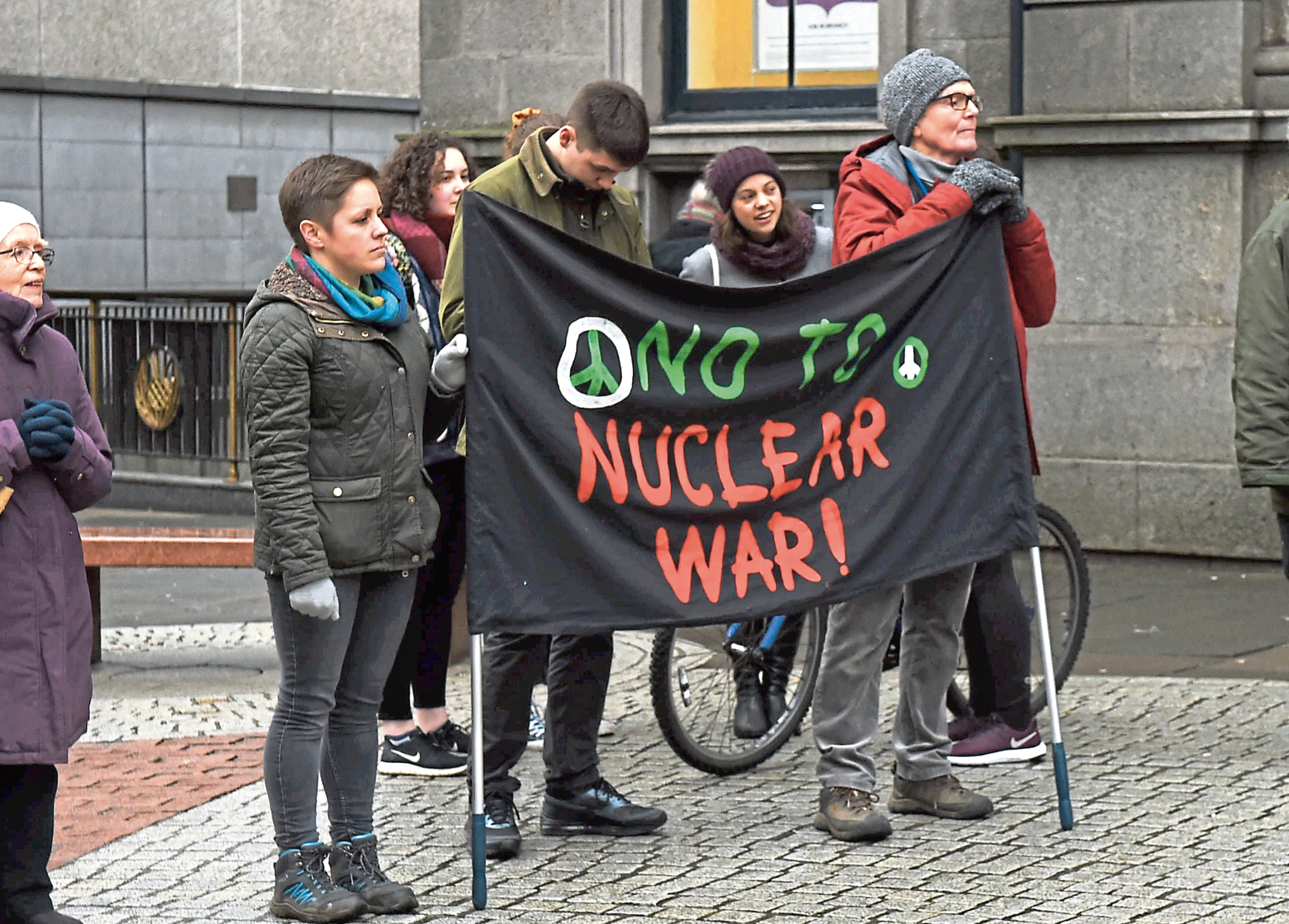 Aberdeen CND protesting