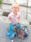 Kintore Primary School pupil Klara Main picks up litter every time she goes on a walk with her mum