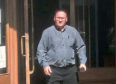 Neil Scott leaving Aberdeen Sheriff Court
