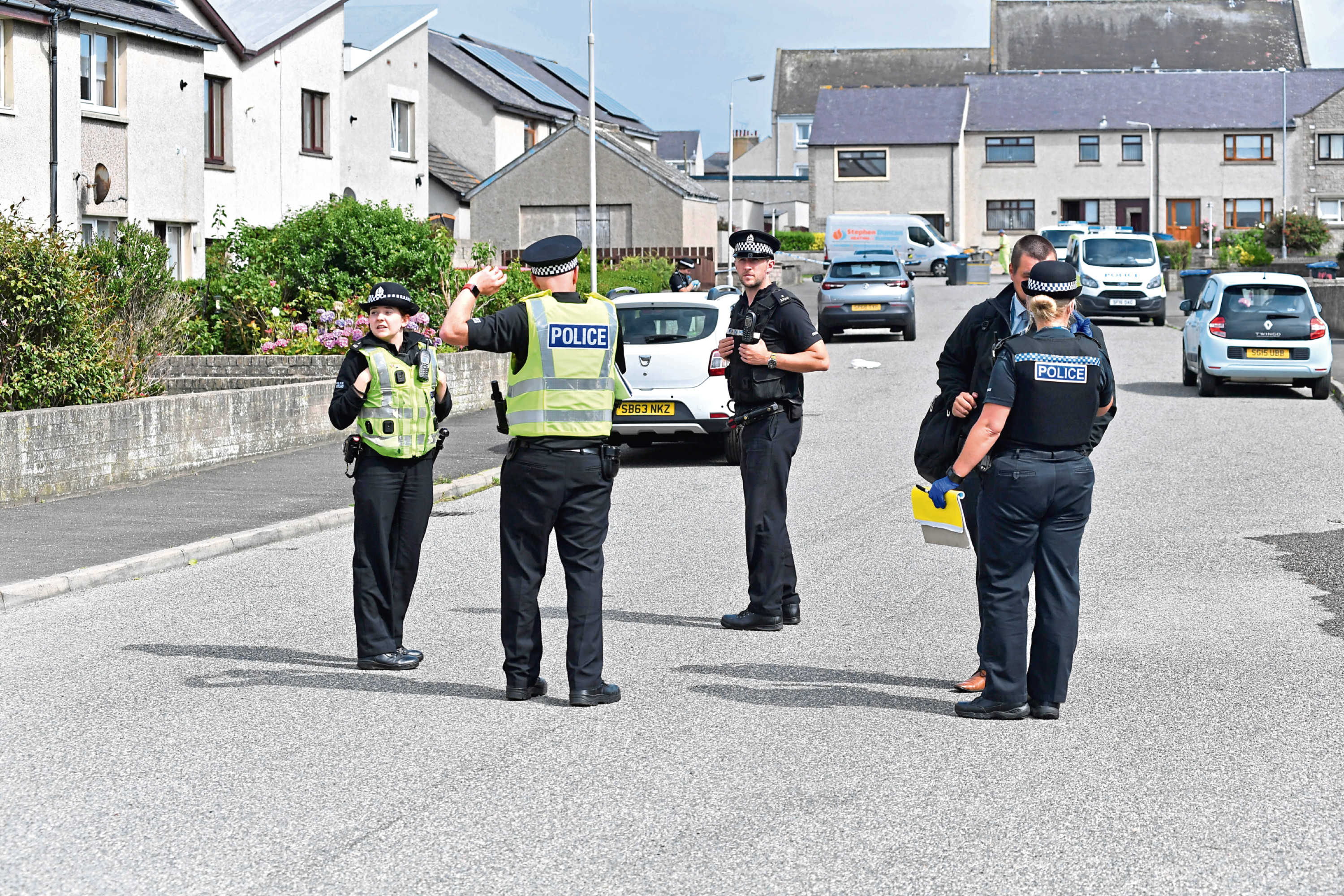 Police and paramedics were called to Chapelhill Road, Fraserburgh
