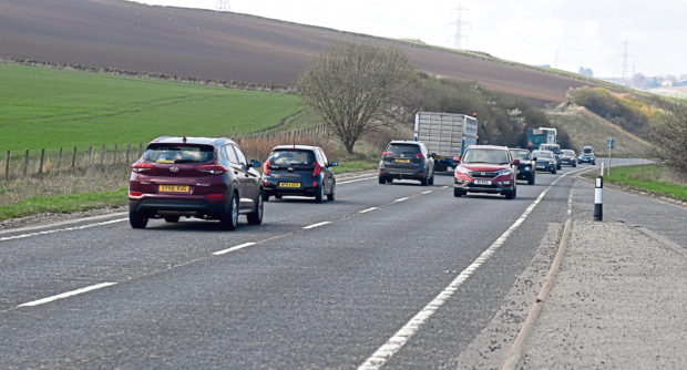 A section of the A96 near Inverurie