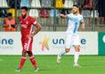 Rijeka's Antonio Colak, right, celebrates his opening goal