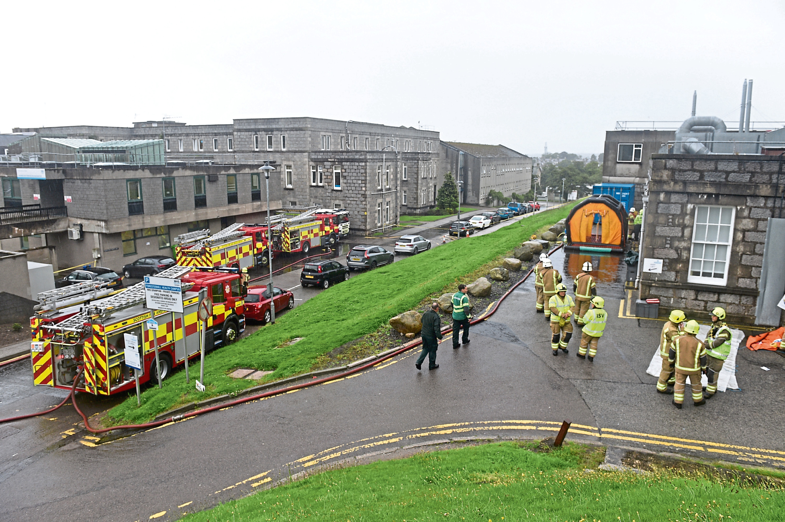 Emergency services in attendance at ARI following reports of a suspicious package