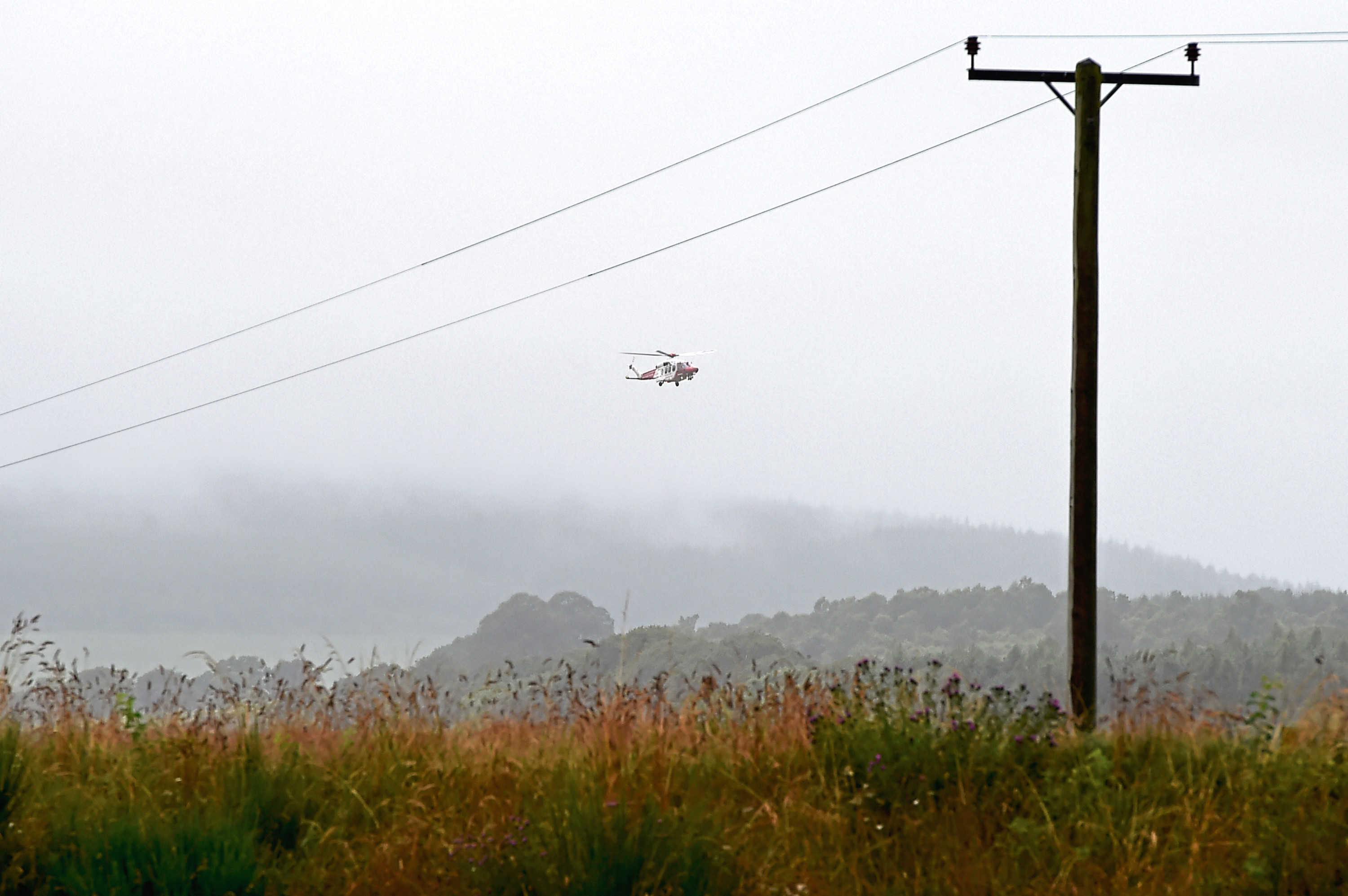 A Coastguard search and rescue helicopter was drafted in to assist with the search