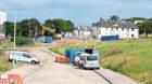 The demolition works in Logie