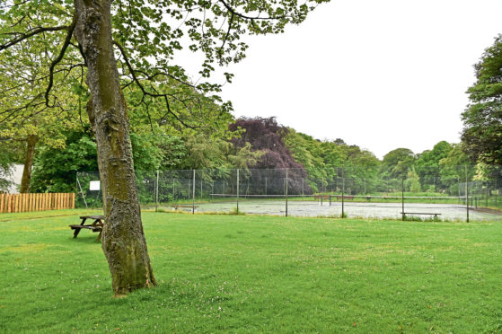 The area that was earmarked for a new children's playpark