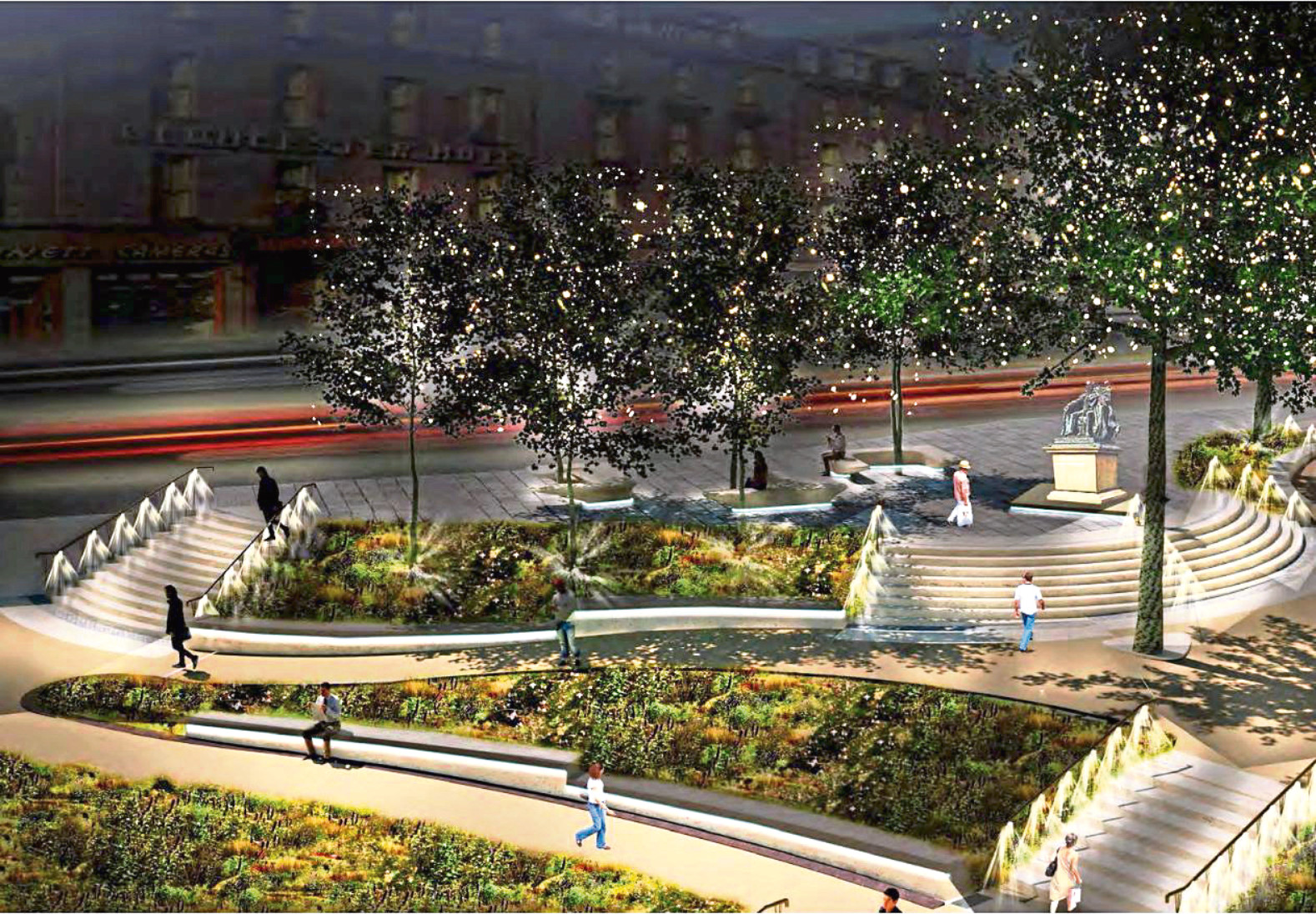 An artist impression of how Union Terrace Gardens will look