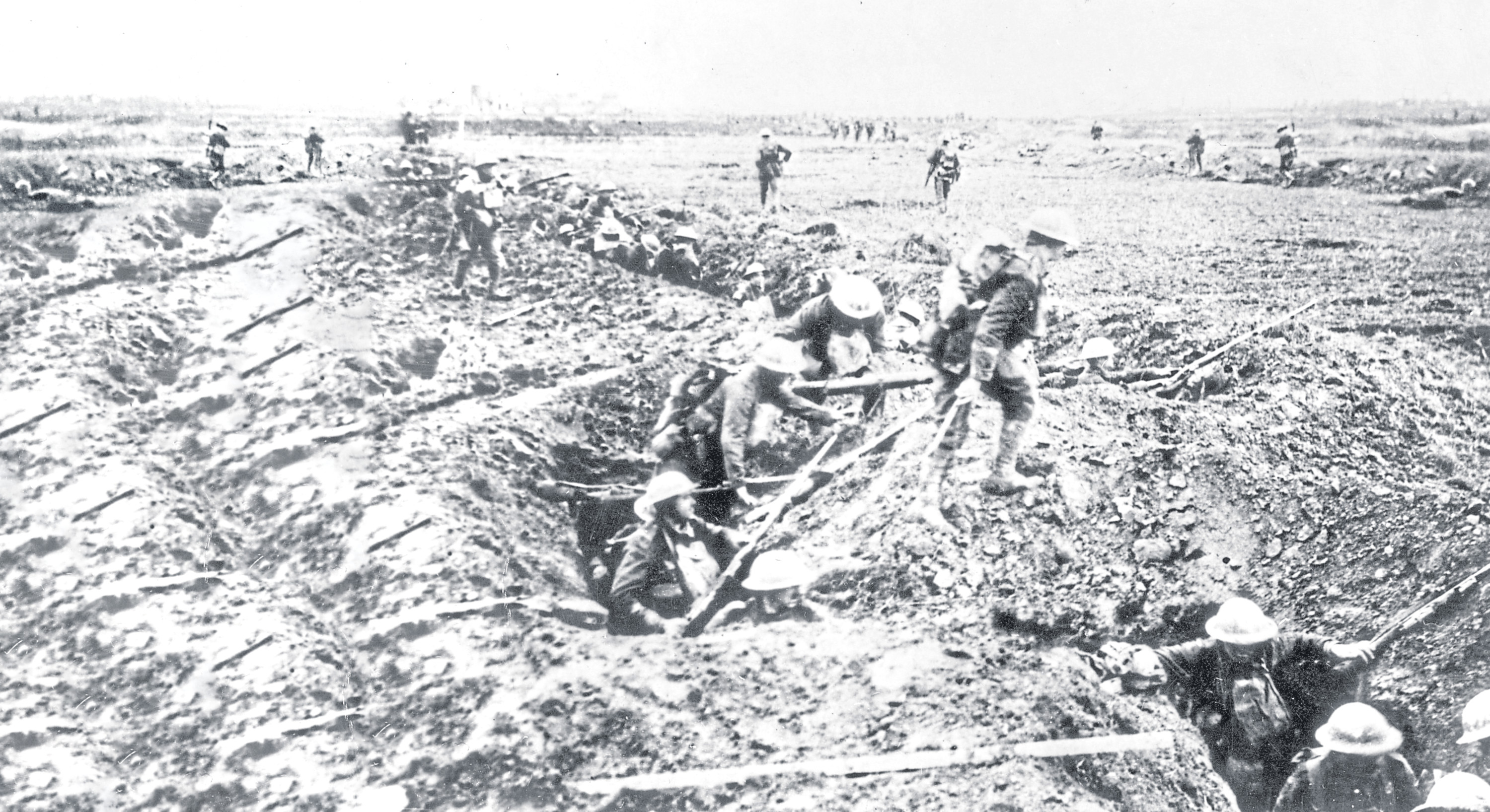 A scene from the Battle of Arras in 1917