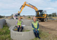 Cllr Douglas Lumsden and Cllr Jenny Laing at the site