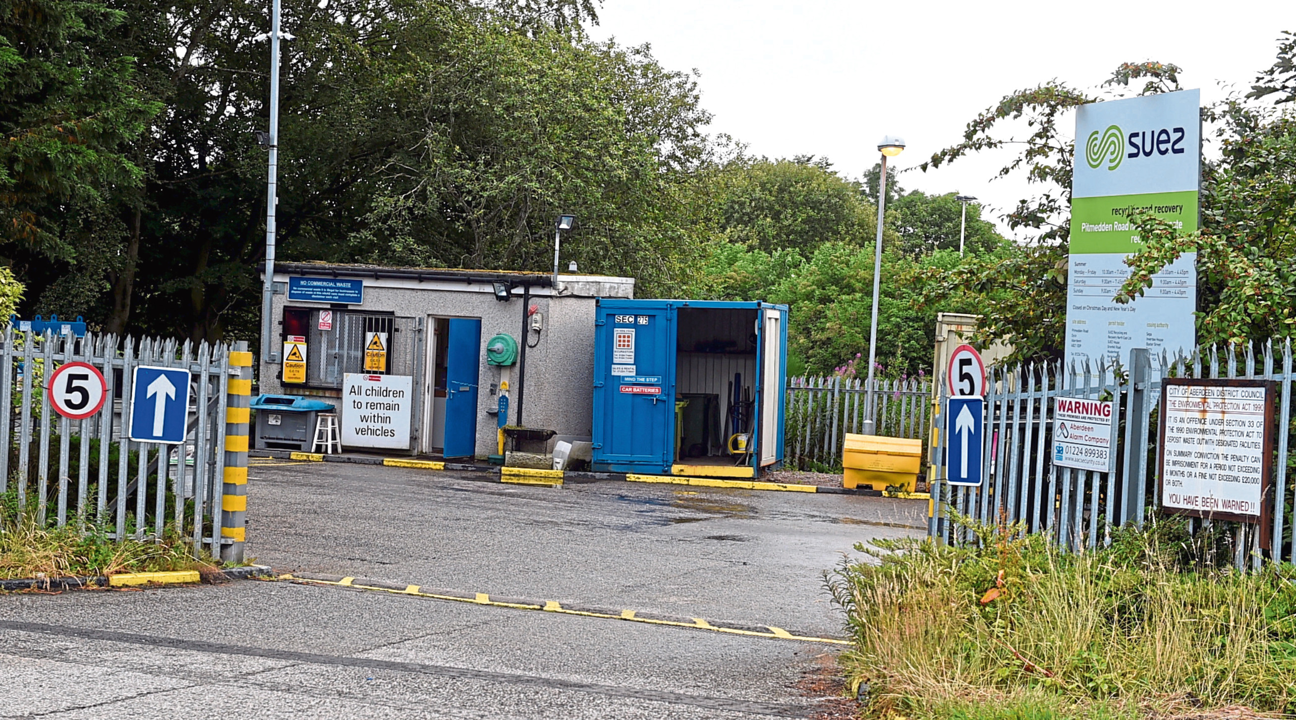 Dyce recycling centre