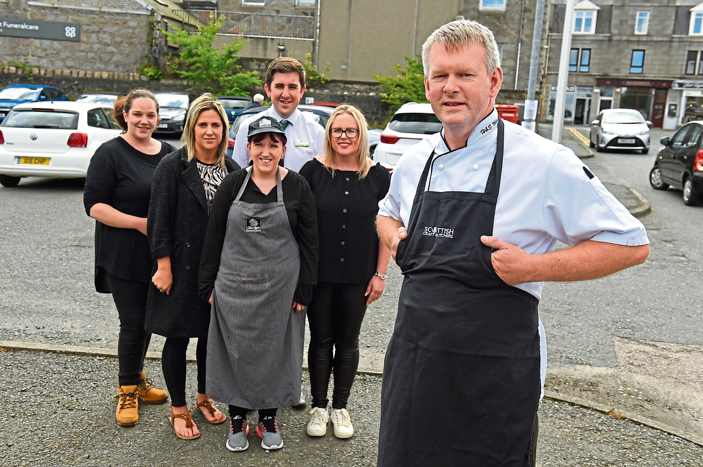 Business owners Emma Mooney, Kelly Watt, Holly Urquhart, Kyle Fowler, Faye Brandie and Kenny Milne