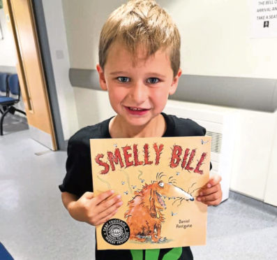 Zane McRobb, 6, from Fraserburgh found this book in a hospital