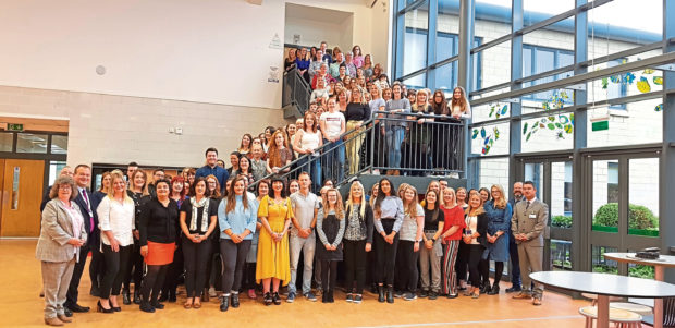 Teachers attending their induction at Meldrum Academy before stepping into the classroom when term starts next week