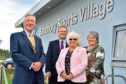 Aberdeenshire Provost Bill Howatson, director of education Lawrence Findlay, and councillors Anne Simpson and Anne Stirling opened Banchory Sports Village